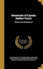 Memorials of Captain Hedley Vicars af Catherine 1818-1912 Marsh