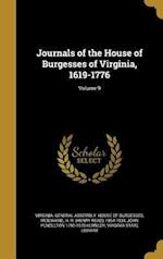Journals of the House of Burgesses of Virginia, 1619-1776; Volume 9 af John Pendleton 1795-1870 Kennedy