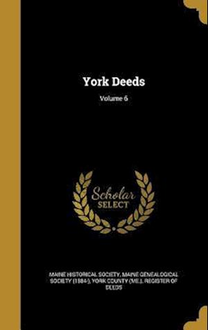 Bog, hardback York Deeds; Volume 6