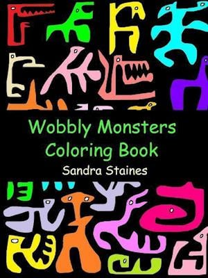 Bog, paperback Wobbly Monsters Coloring Book af Sandra Staines