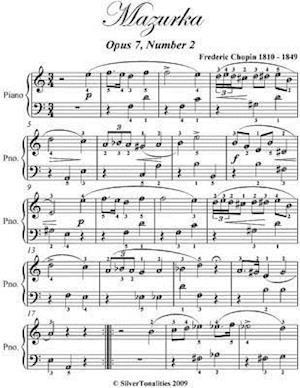 Mazurka Opus 7 Number 2 - Easy Piano Sheet Music
