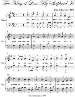 King of Love My Shepherd Is - Easy Piano Sheet Music af Silver Tonalities