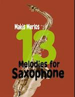 13 Melodies for Saxophone af Makis Merlos