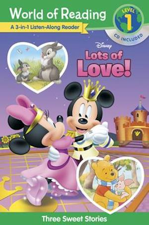 World of Reading Disney's Lots of Love Collection 3-In-1 Listen Along Reader (Level 1)