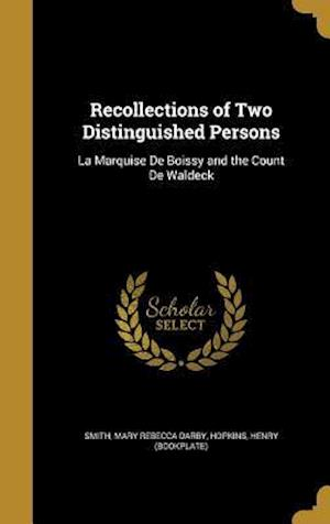Bog, hardback Recollections of Two Distinguished Persons