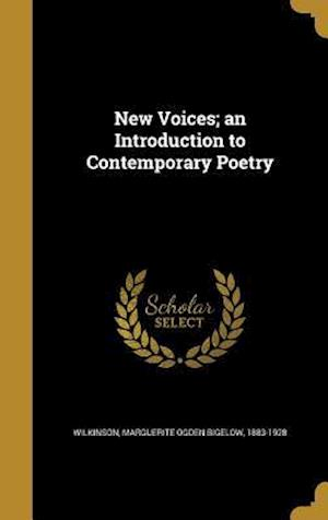 Bog, hardback New Voices; An Introduction to Contemporary Poetry