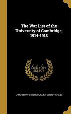 Bog, hardback The War List of the University of Cambridge, 1914-1918
