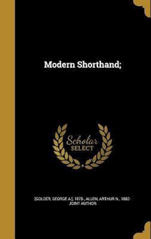 Bog, hardback Modern Shorthand;