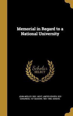 Bog, hardback Memorial in Regard to a National University af John Wesley 1831- Hoyt