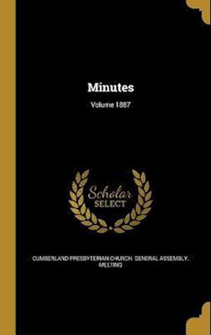 Bog, hardback Minutes; Volume 1887