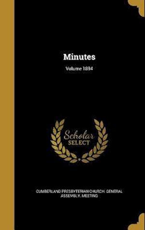 Bog, hardback Minutes; Volume 1894