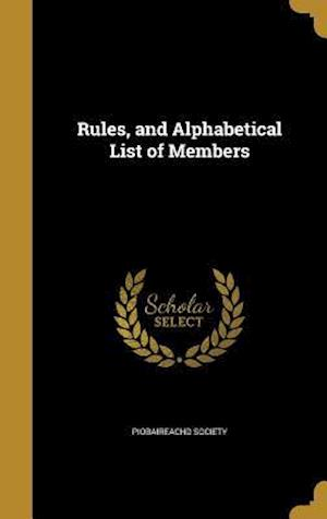 Bog, hardback Rules, and Alphabetical List of Members