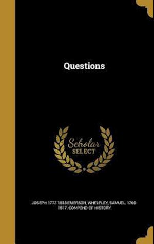 Bog, hardback Questions af Joseph 1777-1833 Emerson