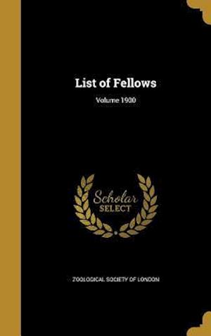 Bog, hardback List of Fellows; Volume 1900