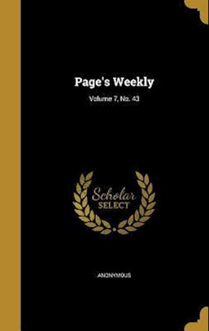 Bog, hardback Page's Weekly; Volume 7, No. 43