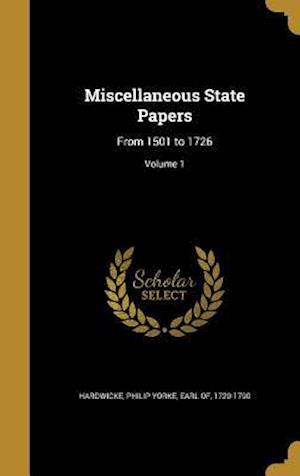 Bog, hardback Miscellaneous State Papers