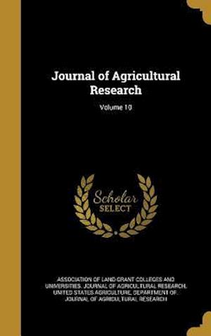 Bog, hardback Journal of Agricultural Research; Volume 10