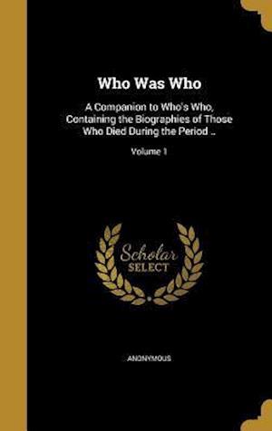 Bog, hardback Who Was Who