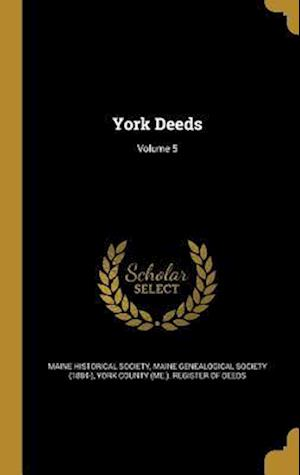 Bog, hardback York Deeds; Volume 5