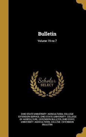 Bog, hardback Bulletin; Volume 19 No 7