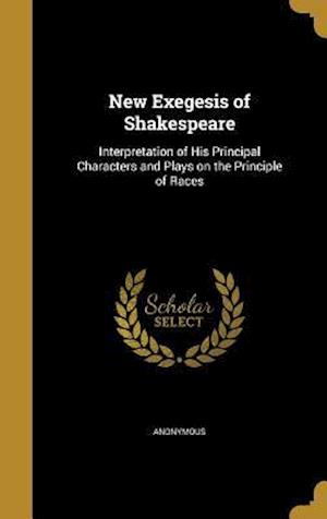 Bog, hardback New Exegesis of Shakespeare