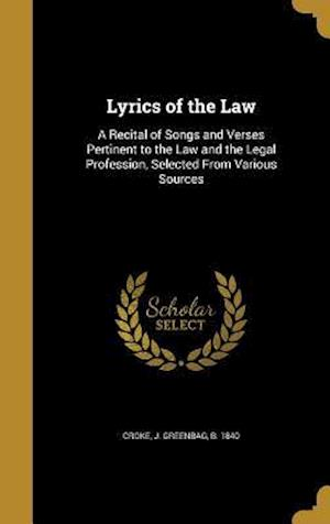 Bog, hardback Lyrics of the Law