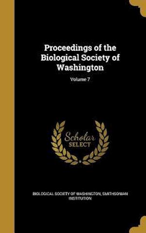 Bog, hardback Proceedings of the Biological Society of Washington; Volume 7