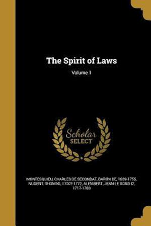 Bog, paperback The Spirit of Laws; Volume 1