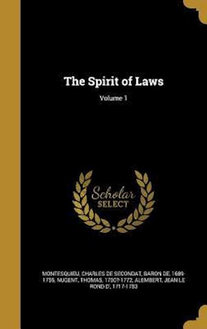 Bog, hardback The Spirit of Laws; Volume 1