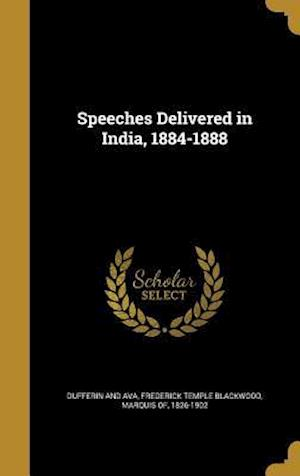Bog, hardback Speeches Delivered in India, 1884-1888