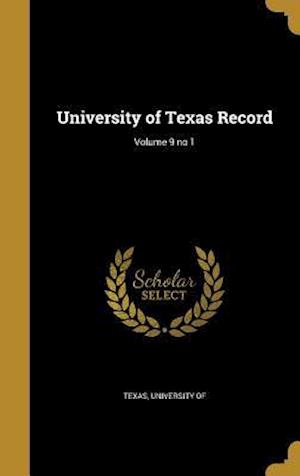 Bog, hardback University of Texas Record; Volume 9 No 1