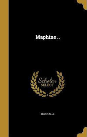Bog, hardback Maphine ..