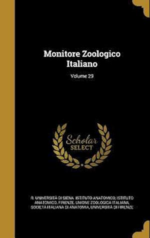 Bog, hardback Monitore Zoologico Italiano; Volume 29