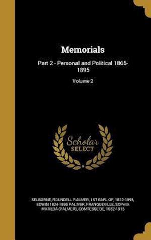 Bog, hardback Memorials af Edwin 1824-1895 Palmer