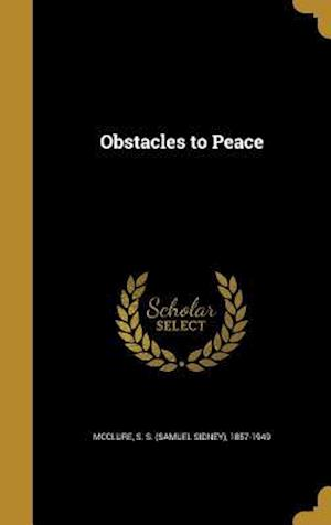 Bog, hardback Obstacles to Peace