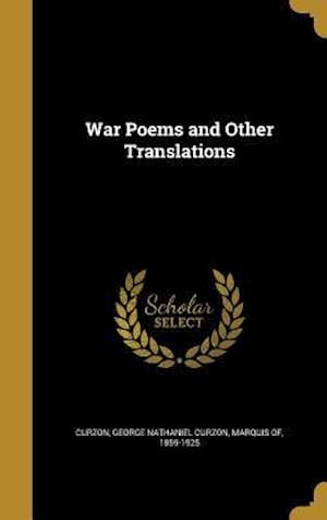Bog, hardback War Poems and Other Translations