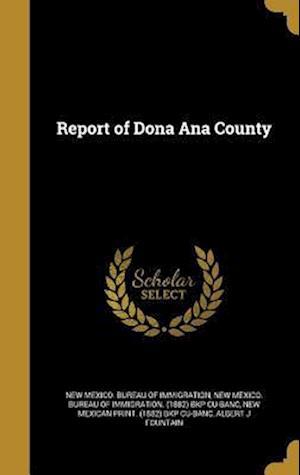 Bog, hardback Report of Dona Ana County
