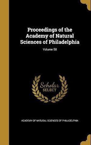 Bog, hardback Proceedings of the Academy of Natural Sciences of Philadelphia; Volume 58