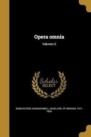 Bog, paperback Opera Omnia; Volumen 3