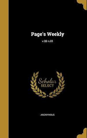 Bog, hardback Page's Weekly; V.08 N.81