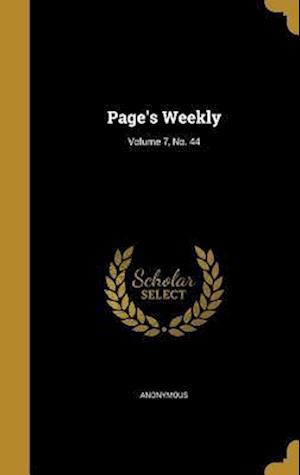 Bog, hardback Page's Weekly; Volume 7, No. 44