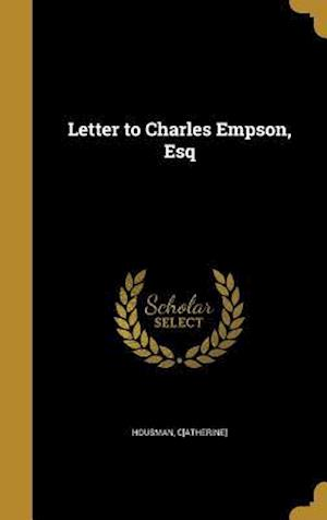 Bog, hardback Letter to Charles Empson, Esq