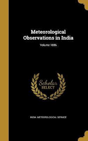 Bog, hardback Meteorological Observations in India; Volume 1886