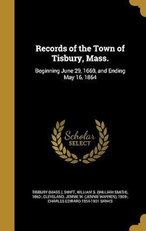 Bog, hardback Records of the Town of Tisbury, Mass.