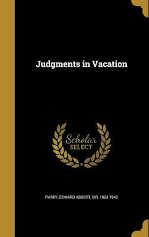 Bog, hardback Judgments in Vacation