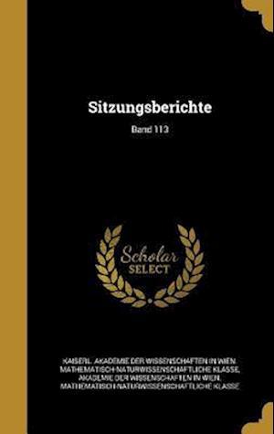 Bog, hardback Sitzungsberichte; Band 113