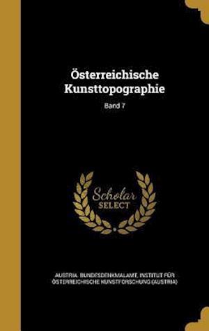 Bog, hardback Osterreichische Kunsttopographie; Band 7