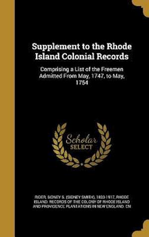 Bog, hardback Supplement to the Rhode Island Colonial Records