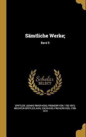 Bog, hardback Samtliche Werke;; Band 5