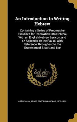 Bog, hardback An Introduction to Writing Hebrew